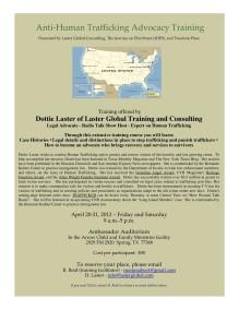 Dottie Laster,Anti Human Trafficking,Laster Global,ImaginePublicity