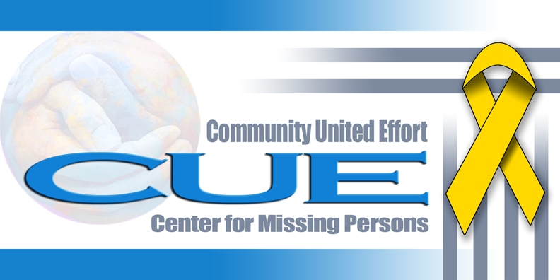 CUE Center for Missing Persons Logo