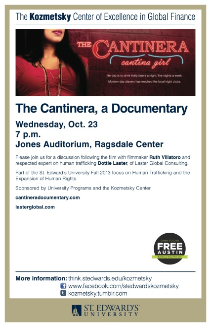 The Cantinera, Ruth Villatoro, Dottie Laster, ImaginePublicity, St. Edwards University