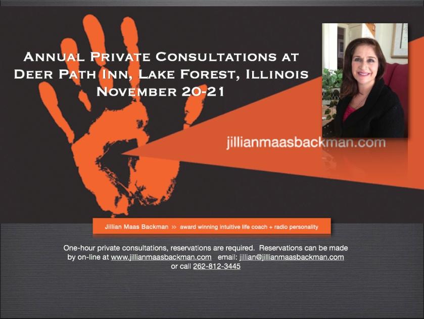 Jillian Maas Backman, Personal consultations, Deer Path Inn, ImaginePublicity