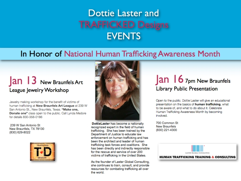 Dottie Laster, Human Trafficking Awareness Month