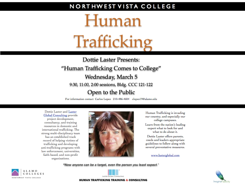 Dottie Laster, Northwest Vista College, Human Trafficking