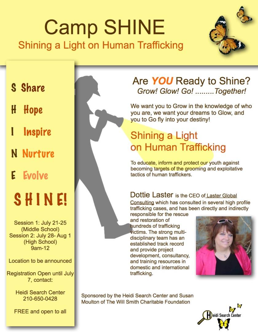Camp Shine, Dottie Laster, Heidi Search Center