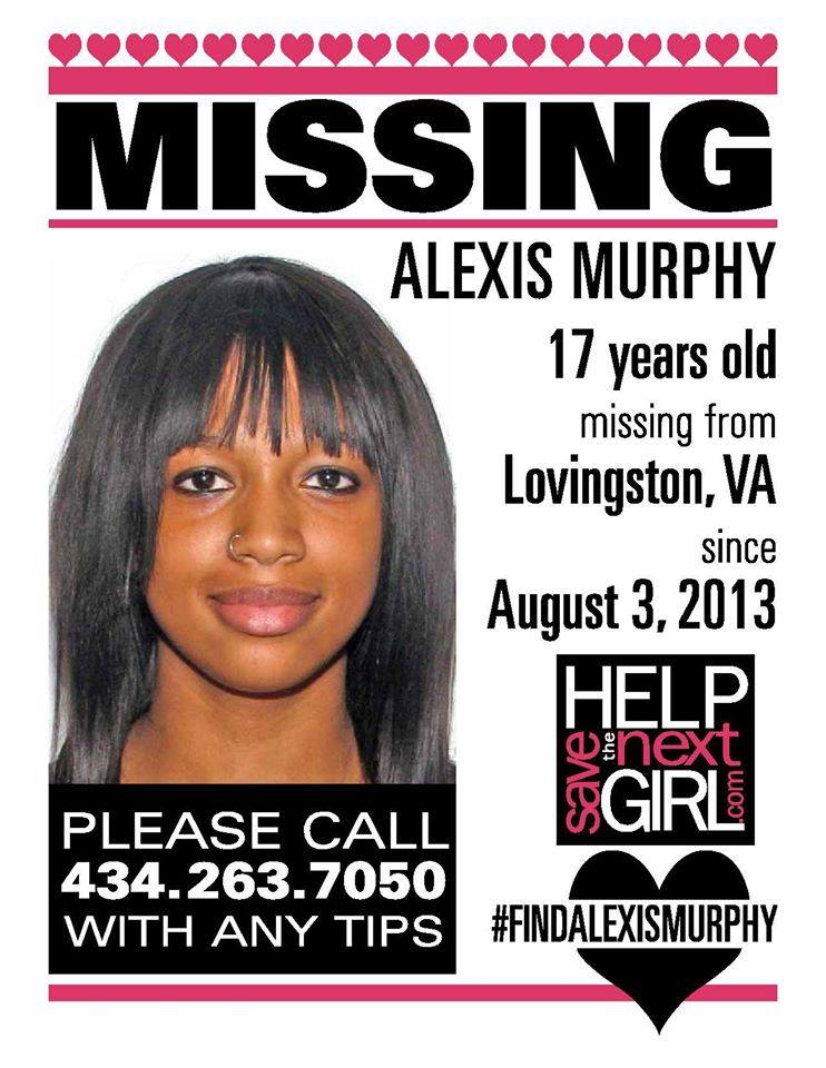Alexis Murphy missing poster