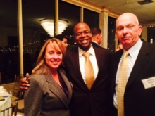 KIm Anklin, District Attorney Kenneth Thompson, Bob Rahn