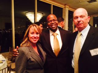 KIm Anklin, District Attorney Kenneth Thompson, Bob Rahn