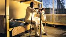 """Tex Johnson, 67, sentenced to 50 year for stealing $24, is from Ron Levine's multimedia project, """"Prisoners of Age: Portraits of Elderly Inmates."""" Photo credit: New America Media"""