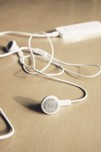 Mobile devices like iPod, tablets and smartphones for podcasts on the go