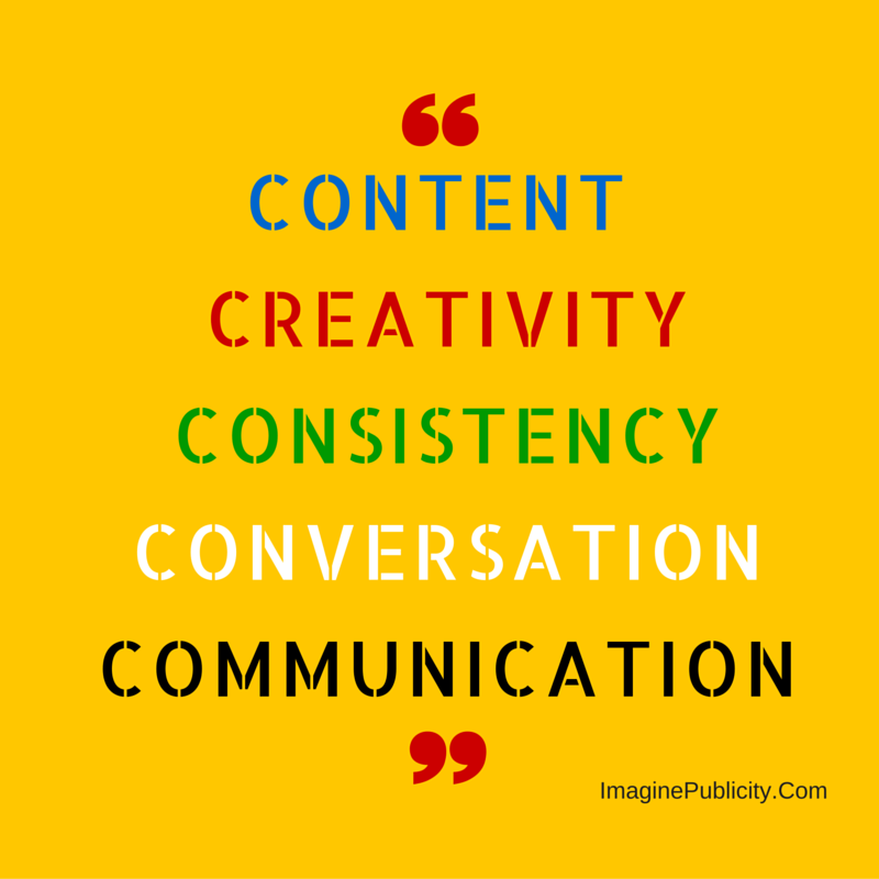 Content Creativityconsistencyconversation communicationdon't fix it.
