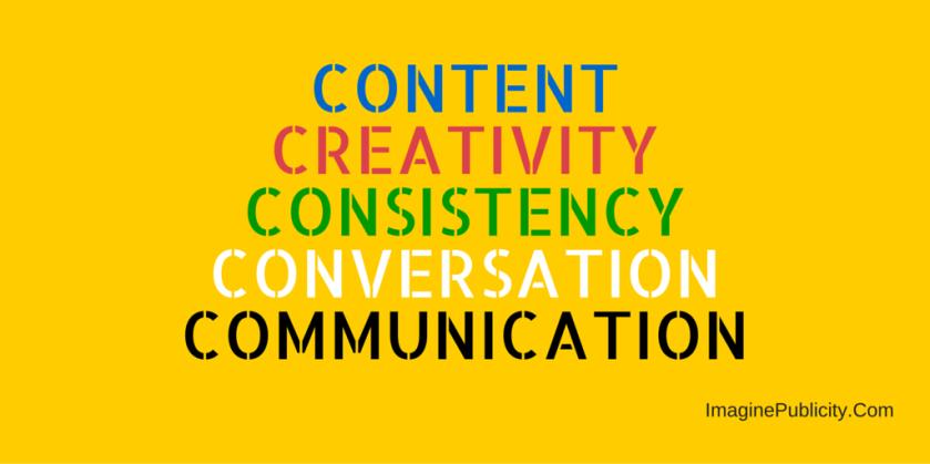 contentcreativityconsistencyconversationcommunication