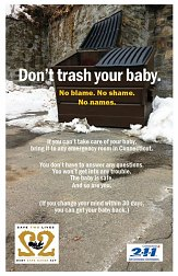 Advertising campaign to bring awareness to CT Safe Haven law
