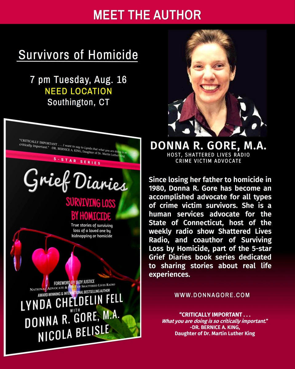 Donna Gore Speaks to CT Survivors of Homicide Support Group