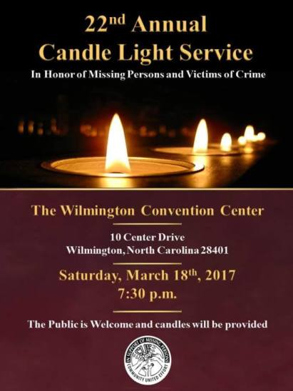 Candlelight Vigil CUE Center for Missing Persons
