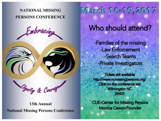 National Missing Persons Conference                                                                                                                                                                                                                                                                                                                                                                                                                                                                                                                                                                                                                                                                                                                                                                                                                                                                                                                                                                                                                                                                                                                                                                                                                                                                                                                                                                                                                                                                                                                                                                                                                                                                                                                                                                                                                              National Missing Persons Conference
